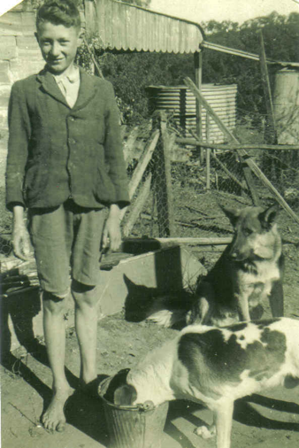 Barefoot Lawrence and his dogs